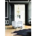 MOJOW Fauteuil Yomi Black Frame White