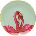 Kare Bord Flamingo Couple 27cm