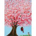 Kare Schilderij Flower Girl 160x120