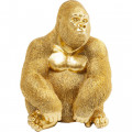 Kare Decofiguur Gouden Gorilla