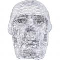 Kare Decofiguur Crystal Skull Silver Small