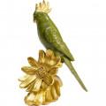Kare Decofiguur Flower Parrot Green