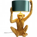 Kare Tafellamp Animal Holding Monkey Gold