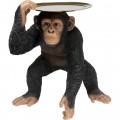 Kare Decofiguur Butler Playing Chimp Black
