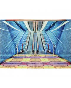 Kare Wandfoto Glass Escalator Show 80x120 cm