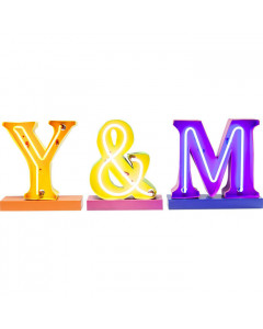 Kare Wandlamp Letters Y & M (Set van 3)