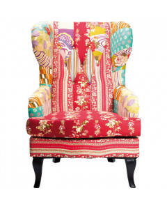 Kare Fauteuil Patchwork Rood