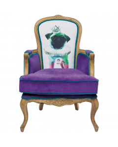 Kare Fauteuil Grandfather Mops Purple