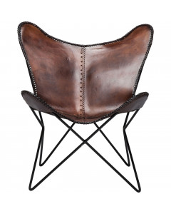 Kare Fauteuil Butterfly Brown Econo