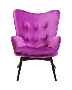 Kare Fauteuil Vicky Velvet Purple