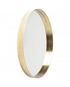 Kare Spiegel Curve Round Brass 60cm