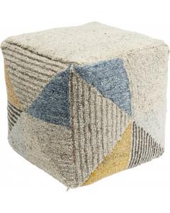 Kare Poef Triangle Stripes 45x45 cm