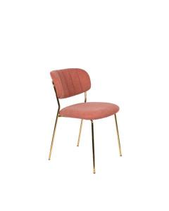 Meer Design Eetkamerstoel Jolien Gold/Pink