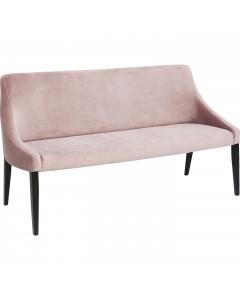 Kare Bank Black Mode Velvet Mauve Pink