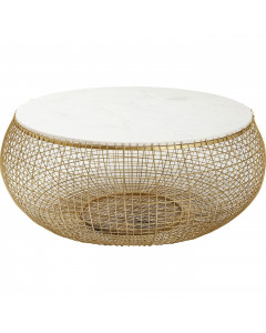 Kare Salontafel Cesta Marble Gold