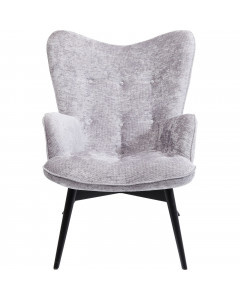 Kare Fauteuil Vicky Wilson Silver