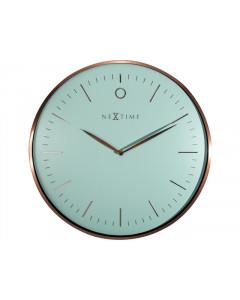 Nextime Wandklok Glamour Turquoise 40 cm