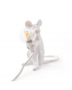 Seletti Tafellamp Mouse Sitting White