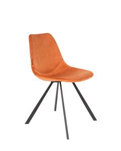 Dutchbone Eetkamerstoel Franky Velvet Orange