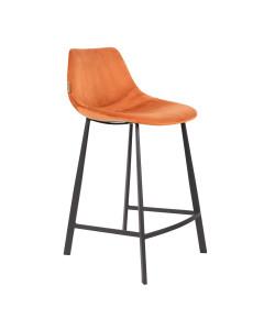 Dutchbone Barkruk Franky Short Velvet Orange