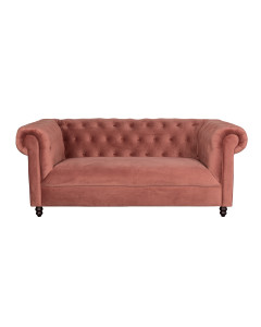Dutchbone Bank Chester Velvet Pink