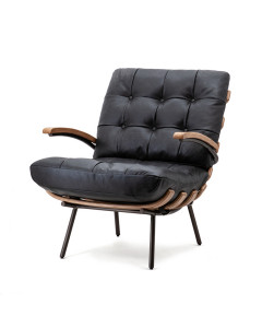 Eleonora Fauteuil Bastiaan Java Leather Black