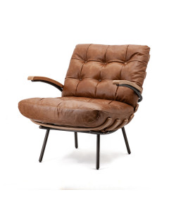 Eleonora Fauteuil Bastiaan Java Leather Cognac