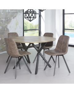 Meer Design Eettafel Orthosie Bruin 120cm