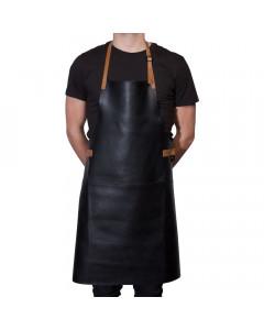 Dutchdeluxes BBQ Style Schort Leder Black/Cognac