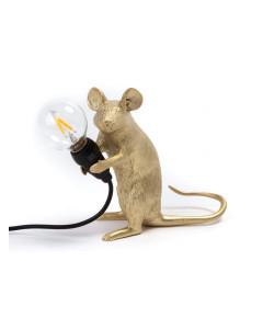 Seletti Tafellamp Mouse Mac Gold