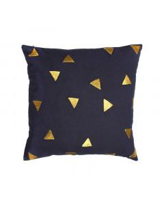 &K Kussen Triangle Blue Square
