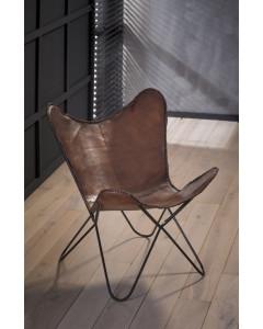 Meer Design Vlinderstoel Bruin