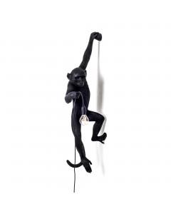 Seletti Wandlamp Monkey Hanging Black Left