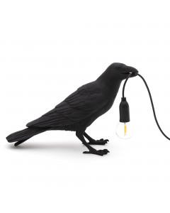 Seletti Tafellamp Bird Waiting Black