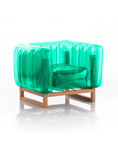 MOJOW Fauteuil Yomi Wood Frame Green