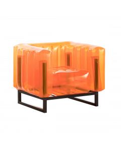 MOJOW Fauteuil Yomi Black Frame Orange
