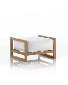 MOJOW Poef Yoko Wood Frame White