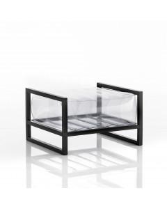 MOJOW Poef Yoko Black Frame Transparent