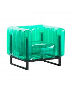 MOJOW Fauteuil Yomi Black Frame Green