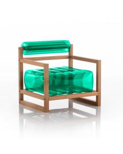 MOJOW Fauteuil Yoko Wood Frame Green