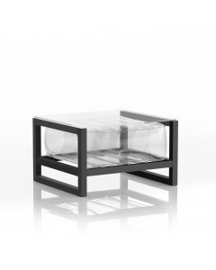 MOJOW Bijzettafel Yoko Black Frame Transparent