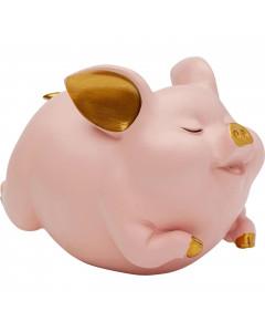Kare Spaarpot Happy Pig Pink