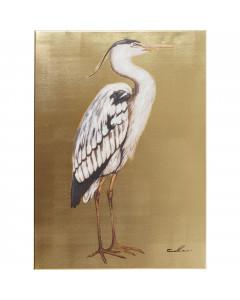 Kare Schilderij Heron Rechts 70x50cm
