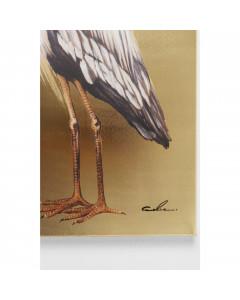 Kare Schilderij Heron Links 70x50cm