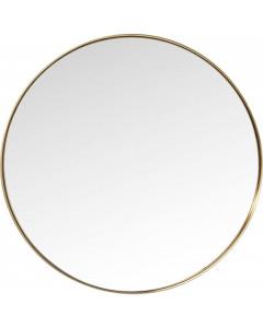 Kare Spiegel Curve Round Brass