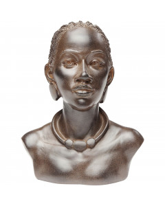 Kare Decofiguur African Lady Necklace