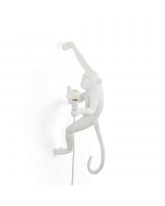 Seletti Wandlamp Monkey Hanging Right White