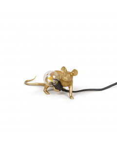 Seletti Tafellamp Mouse Lying Down Gold