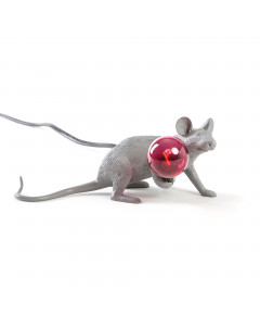 Seletti Tafellamp Mouse Lying Grey