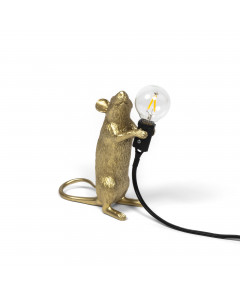 Seletti Tafellamp Mouse Standing Gold